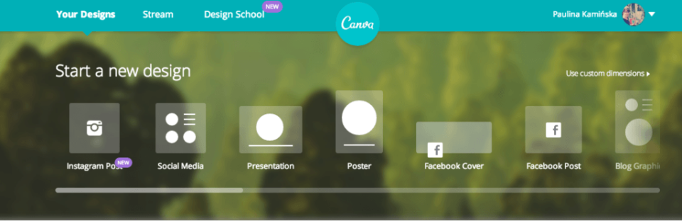 Canva - image editing tool