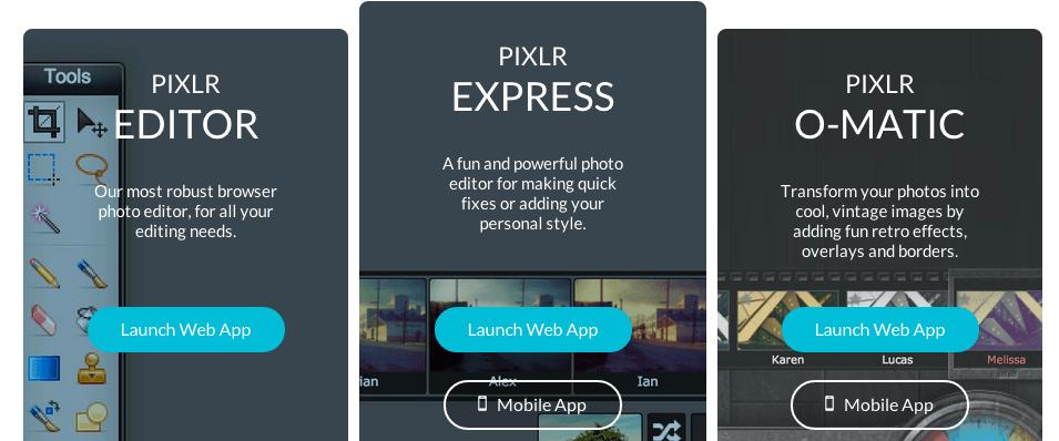 Pixlr tool