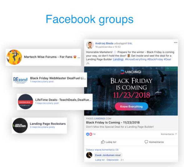 Black Friday facebook groups