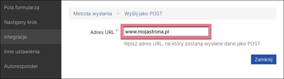 integracja formularza post