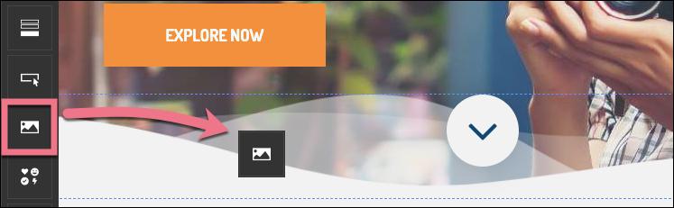 dodaj widget edytor landingi