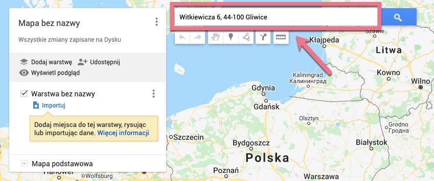 google my maps lokalizacje