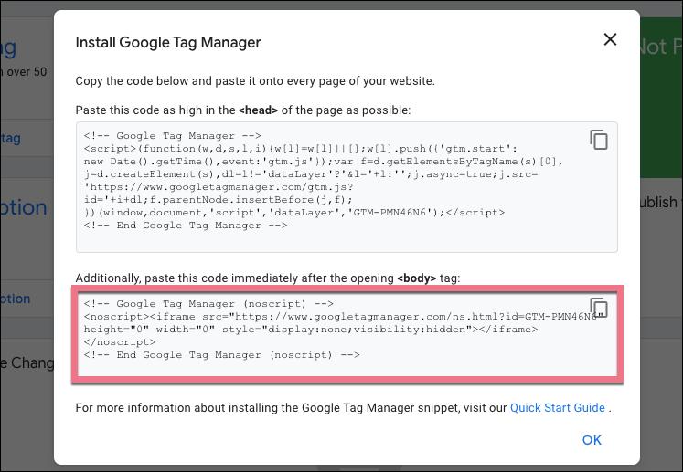 google tag manager installation