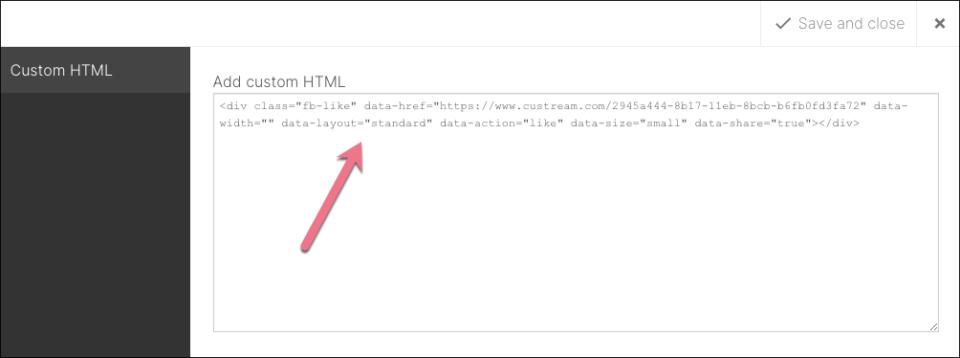 html like button