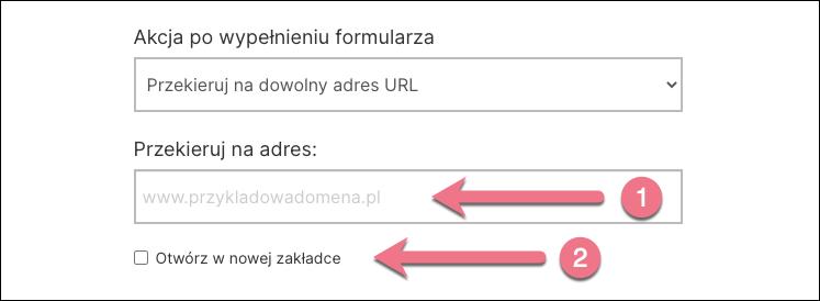 po formularzu inny url