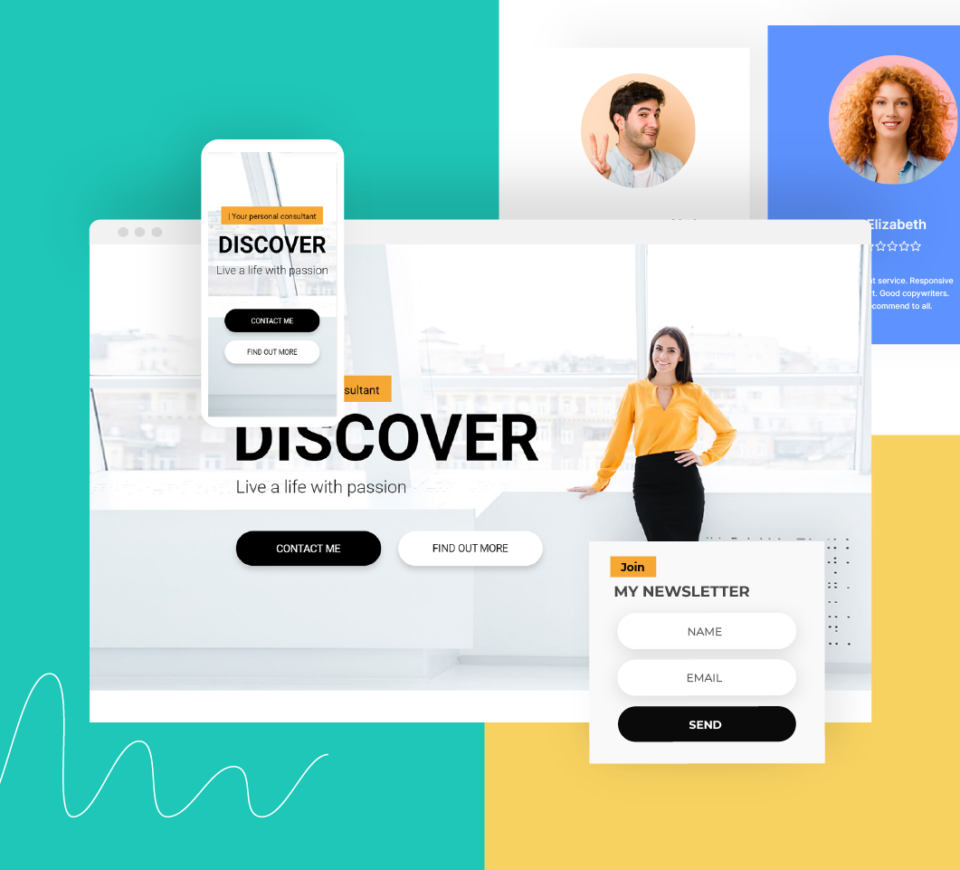Find new customers with our landing page templates