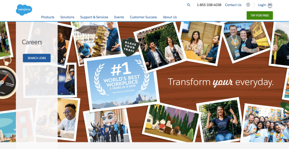 Salesforce recruitment page