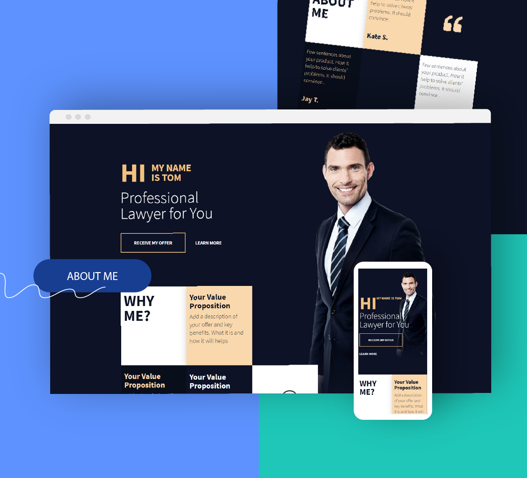 Firmowy landing page