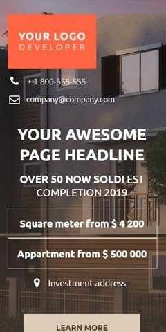 Real Estate mobile landing page