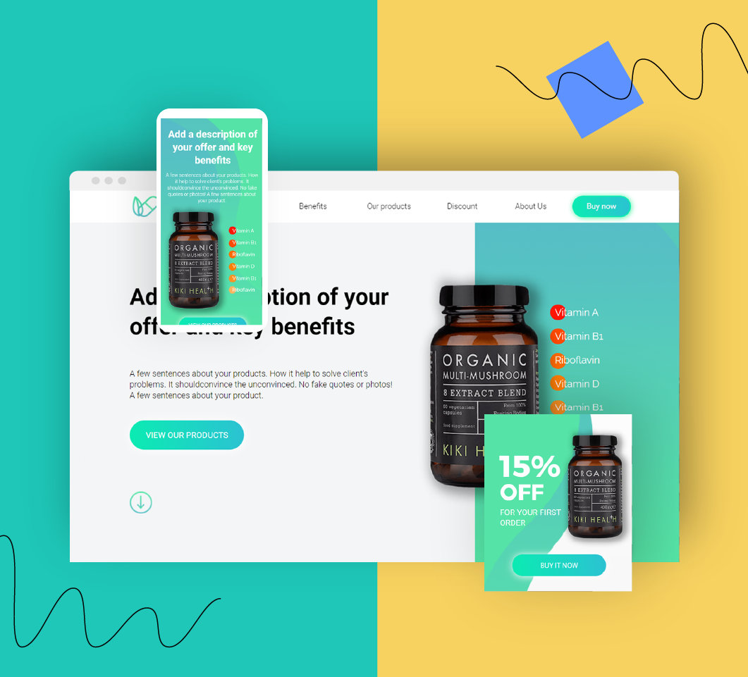 Landing pages for pharmacies