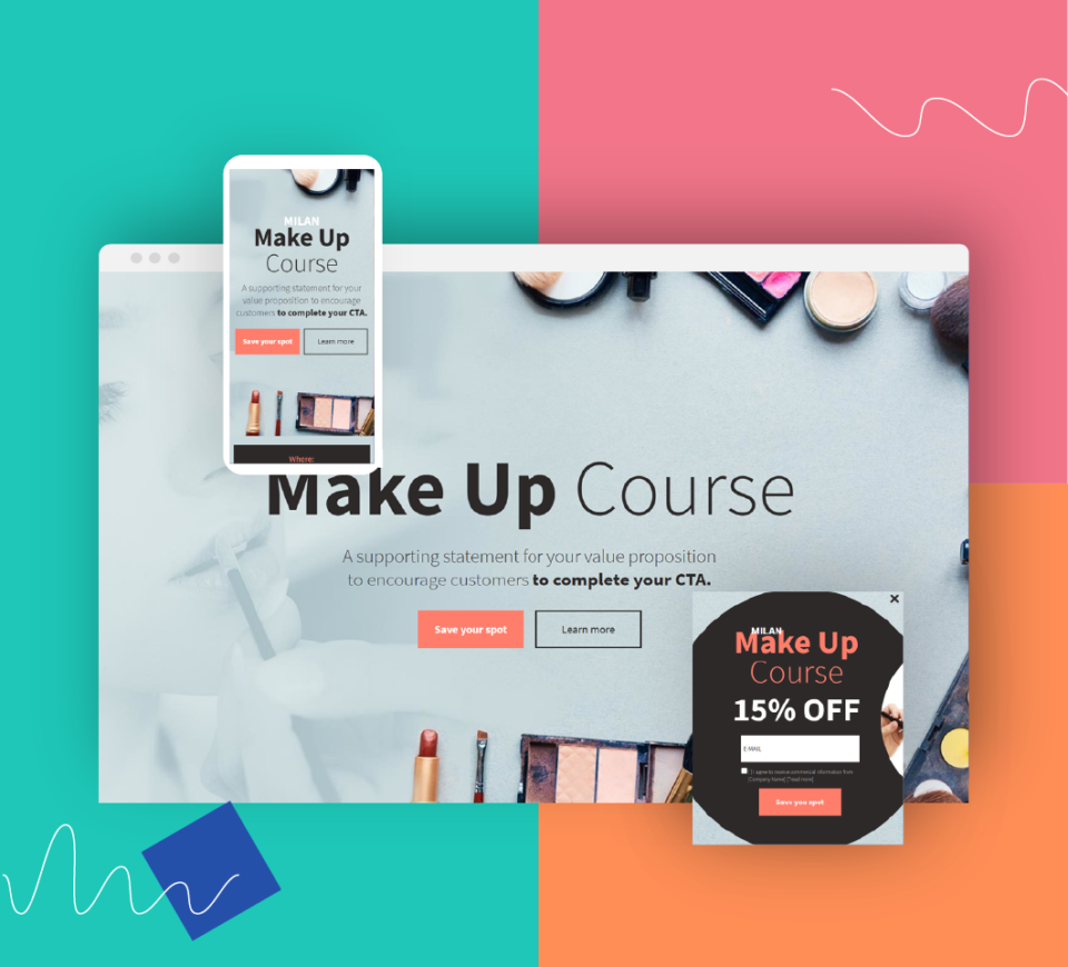 Time for beautiful landing pages