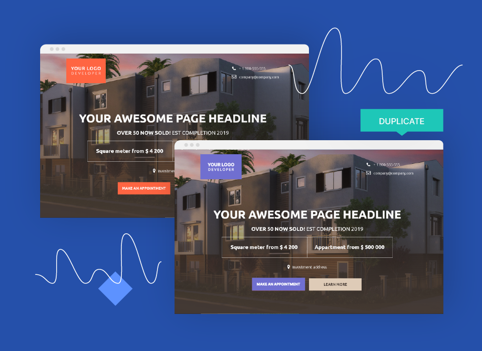 Duplicate your real estate landing pages