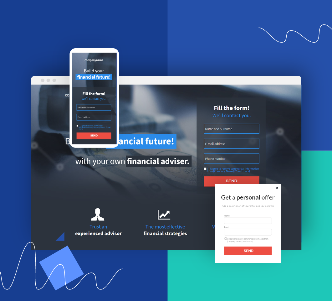 Insurance landing pages