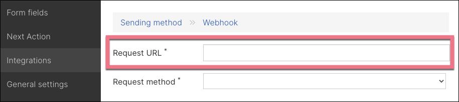 webhook request url
