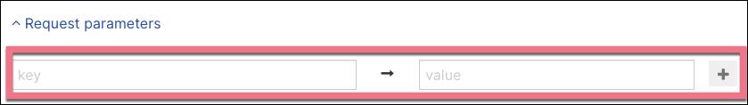 request parameters webhook