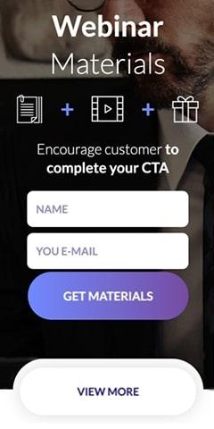 Marketing mobile landing page