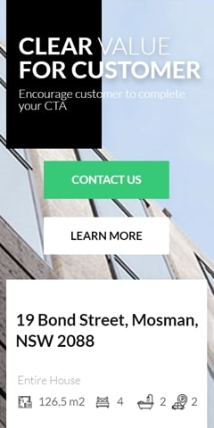 Real estate mobile page