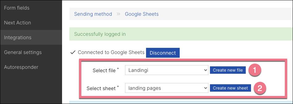 select google sheet