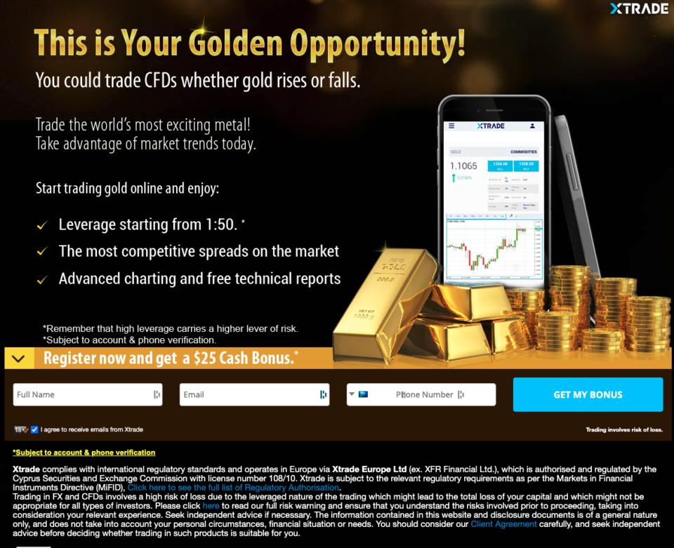 Trading Landing Page