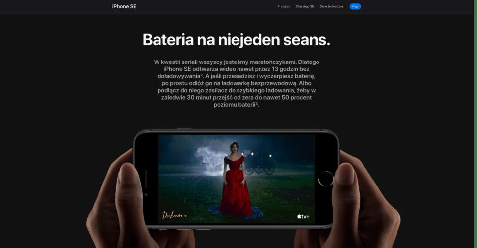 iPhone SE sekcja zalet