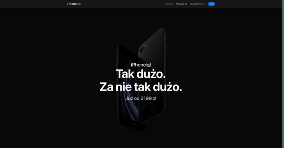 iPhone SE strona docelowa