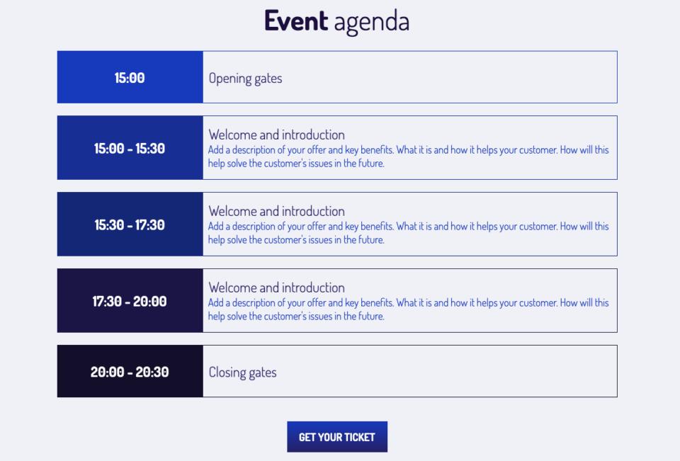 Event LP agenda