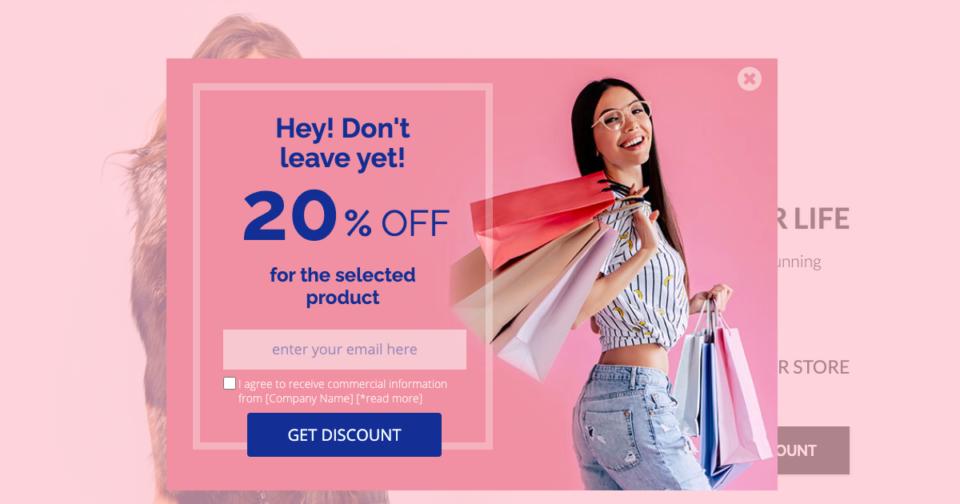 Ecommerce discount popup