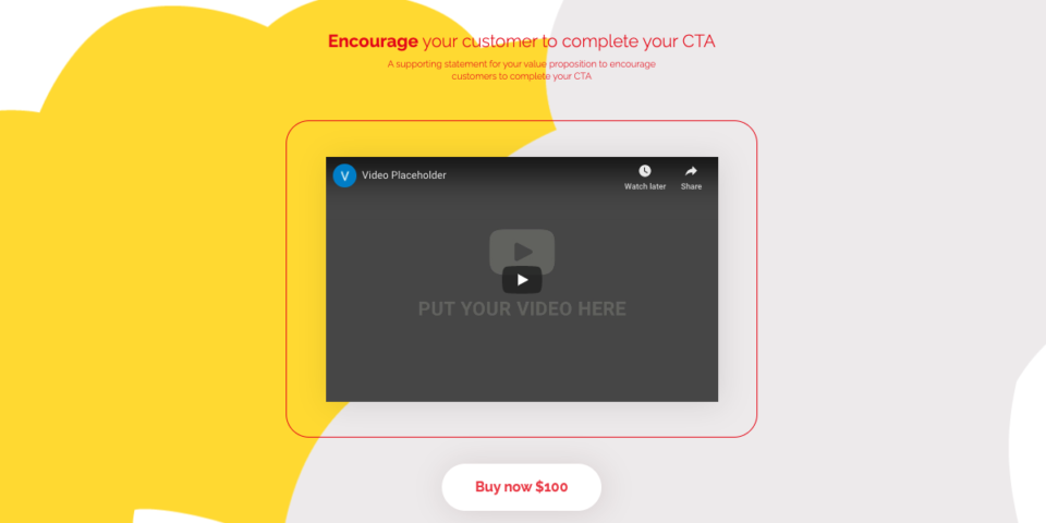 Product landing page 3