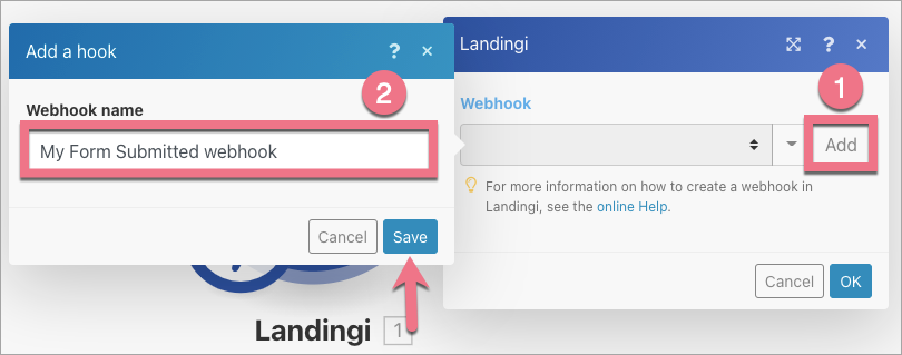 landingi webhook integromat