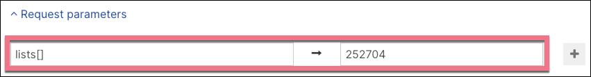 Request parameters