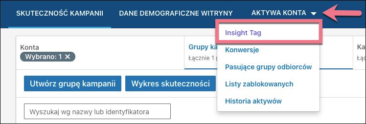 aktywa konta linkedin insight tag