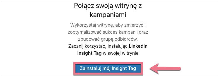 zainstaluj tag śledzący linkedin