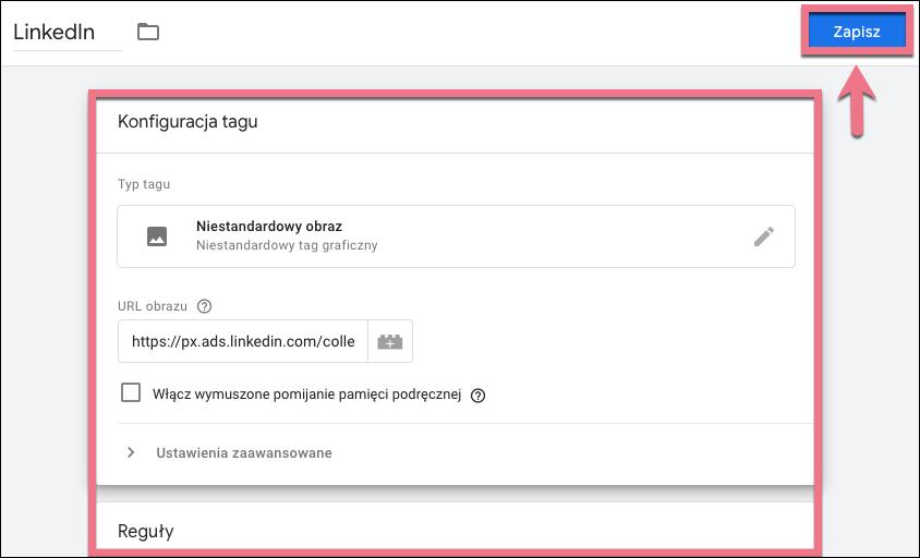 linkedin pixel google tag manager
